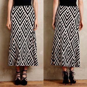 NWT $118 Maeve Anthro Peaked Chevron Maxi Skirt